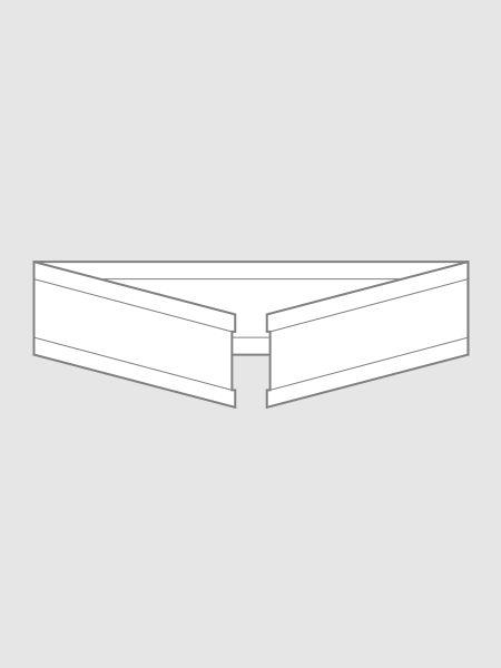 U-Clipse aus Papier in weiß, 33 mm
