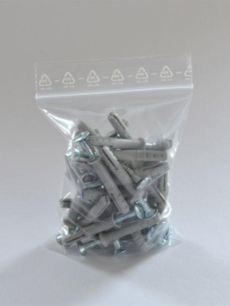 LDPE-Druckverschlussbeutel 100 x 150 mm, 90 µ