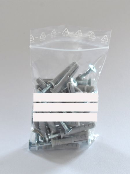 LDPE-Druckverschlussbeutel mit Beschriftungsfeld 160 x 220 mm, 90 µ