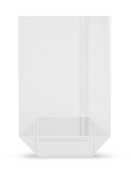 OPP-Kreuzbodenbeutel (mit Siegelnaht) 85 x 145 mm, 30 µ, hochtransparent