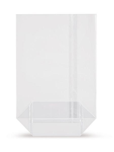 OPP-Kreuzbodenbeutel (mit Siegelnaht) 120 x 225 mm, 30 µ, hochtransparent