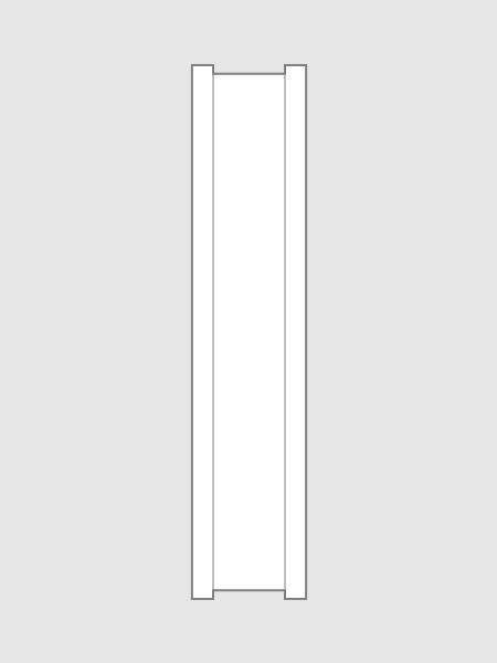 Papier-Clipbandverschlüsse in weiß, 100 mm