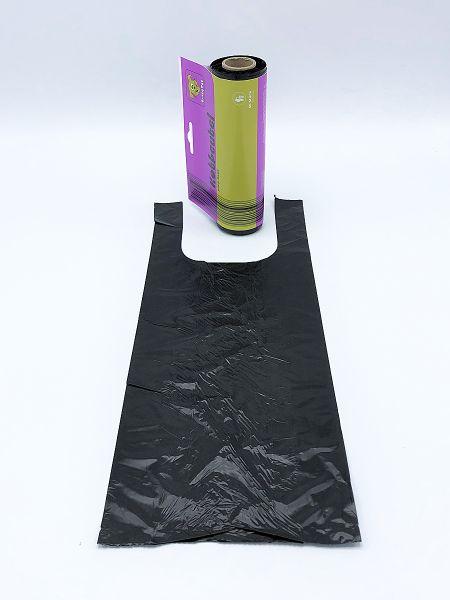 HDPE-Hundekotbeutel 160 + 100 x 400 mm, schwarz